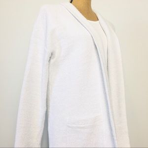 Eileen Fisher Open Cardigan Cotton Blend P/L